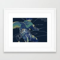 snk Framed Art Prints featuring SNK  by KEL H