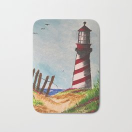Beach Lighthouse Bath Mat
