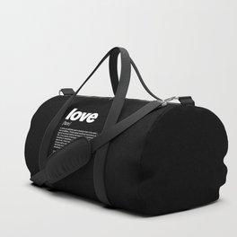 Define LOVE w/b Duffle Bag