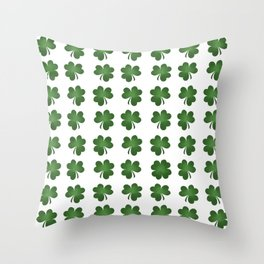 Find The Four Leaf Clover Throw Pillow