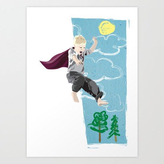 The man who has no imagination has no wings. Art Print