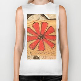 Red daisy Biker Tank