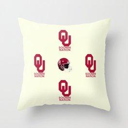 2013 #OU #Sooner football schedule. Throw Pillow