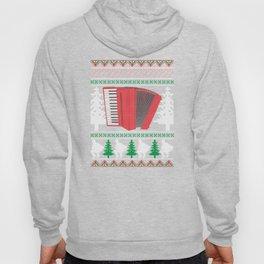 Accordion Ugly Christmas Sweater Band T-Shirt Hoody