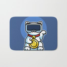 Maneki Neko Bitcoin Bath Mat