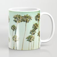 palm trees Mugs featuring palm trees by Mareike Böhmer