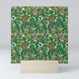 Sarong Kebaya Batik Green Mini Art Print