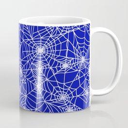 Royal Blue Cobwebs Coffee Mug