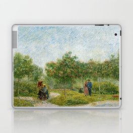Vincent Van Gogh - Garden in Montmatre with Lovers Laptop & iPad Skin