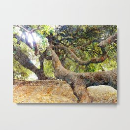 Tree Grunge 2 Metal Print