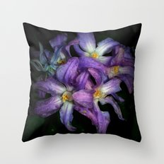 Distressed Flowers Throw Pillow