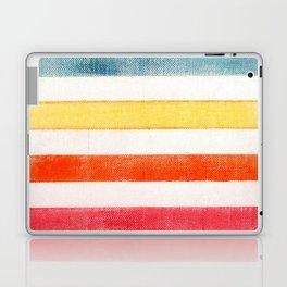 Rainbow stripes on canvas Laptop & iPad Skin