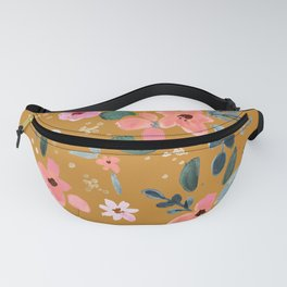 Fawn Floral Copper Orange Fanny Pack