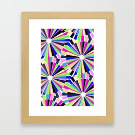 MULTI COLOURED WHEELS Framed Art Print