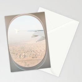 Pastel Plane Window View Photo | Summer Holiday Dubai Air Art Print | Adventure Travel Photography Stationery Cards
