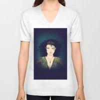 medusa V-neck T-shirts featuring Medusa by Leanne Phillips