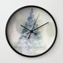 Chistmas Tree Stars & Bubbles Wall Clock