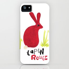Lapin Rouge iPhone Case