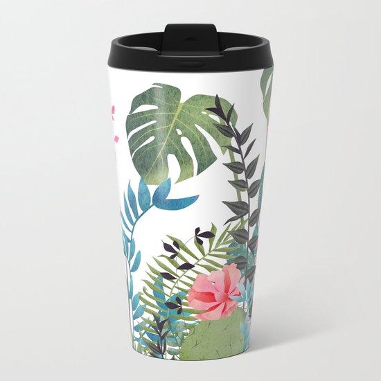 tropical composition Metal Travel Mug