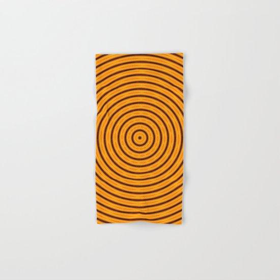 Circles within - Orange Hand & Bath Towel