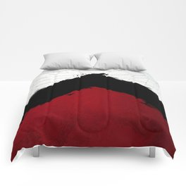 BLOOD RED RIBBON Comforters