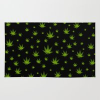 weed Area & Throw Rugs featuring Weed Weed Weed by Spyck