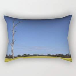 Tree in the Canola Field Rectangular Pillow