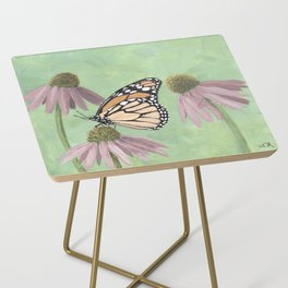 Monarch Butterfly Art, Orange Butterfly Painting Side Table