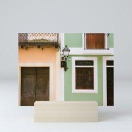 Colorful houses of Santo Domingo | Dominican Republic travel photography Mini Art Print