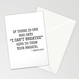 I Can't Breathe_V2 Stationery Cards
