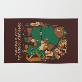 oo-de-lally (brown version) Rug