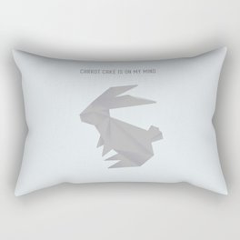 Always On My Mind - Origami Grey Rabbit Rectangular Pillow