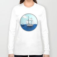 pirates Long Sleeve T-shirts featuring Chasing Pirates by Jamie Marie Lyon