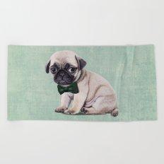 Angry Pug Beach Towel