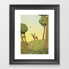 Le brame du cerf Framed Art Print