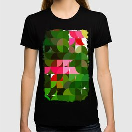 Pink Roses in Anzures 5  Abstract Circles 1 T-shirt