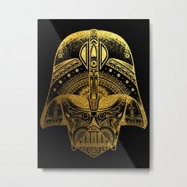 Mandala Darth Vader - Gold Foil Metal Print