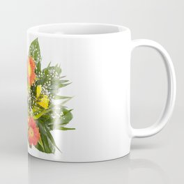 Arranged handheld wedding bouquet of freesia and gerbera Coffee Mug