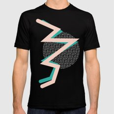 memphis Mens Fitted Tee MEDIUM Black