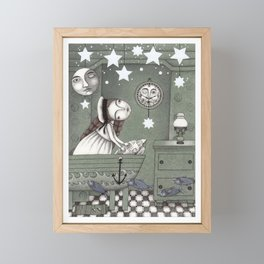 When it's Night Outside Framed Mini Art Print