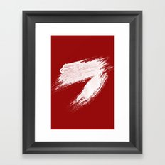 ANGER - red palette Framed Art Print