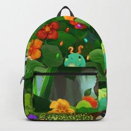 Clown Caterpillar Playing a Concertina Backpack