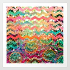 New World Chevron Spring Edition Art Print