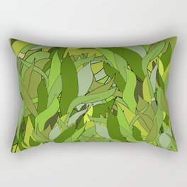 Lucky Bamboo in Porcelain Bowl Rectangular Pillow