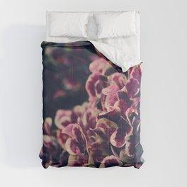 Hydrangea Flowers - Deep Purple Comforters