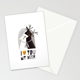 I love you my deer Stationery Cards