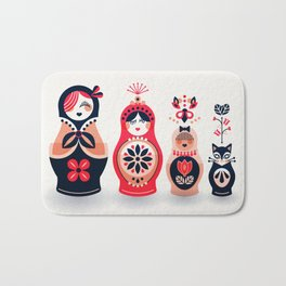 Russian Nesting Dolls – Hot Pink Bath Mat