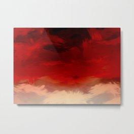 Flaming Skies Metal Print