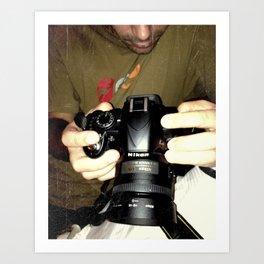 act of photography Art Print