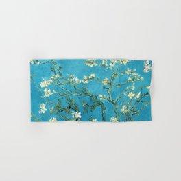 Vincent van Gogh Blossoming Almond Tree (Almond Blossoms) Light Blue Hand & Bath Towel